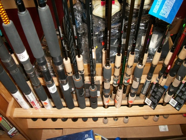 Fenwick, Shimano, St. Croix rods plus big trolling stuff and more.  Everything from super ultralight to medium heavy.  Plus, we can order stuff, too!