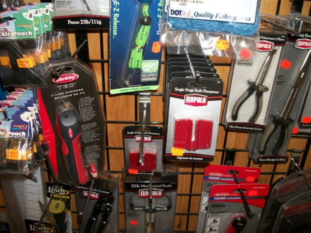 Accessory Items - Fillet knives, tackle boxes, sharpeners, pliers, tackle covers, replacement nets, scales, scalers, markers, and on and on!