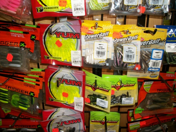 Plastics up the wahzoo!  Yum, Berkley, Trigger X, Wave,  Mr. Twister,  Tubes, Curly Tails, Swim Tails, Paddle Tails, small, medium, big, plus Yamamoto Senkos, Z-Man, and more!