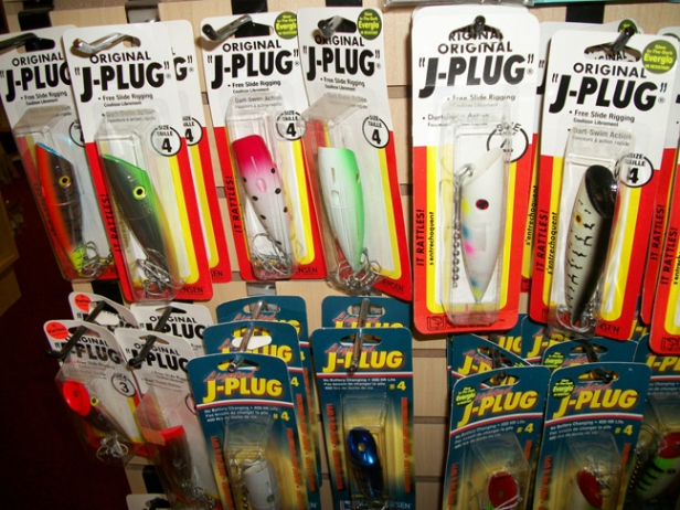 "These are ""J-Plugs"" in case you couldn't figure that out.  Lake trout and WHOPPER northern fishing, everybody trolls these on downriggers, but we cast these for northerns.  They cast  really well and the fight is like none other because the lure body leaves the hook at hookset!  It' s too hard to explain - come into Red Rock and I'll show you."