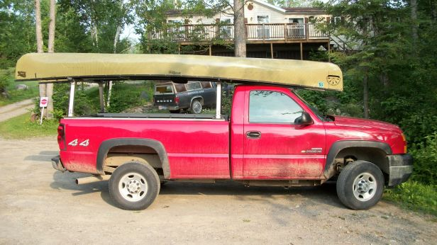 truck with canoes