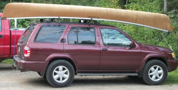 car topping canoe
