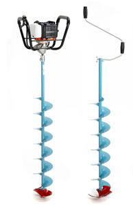 """Nils Power Ice Auger System - available in 4.5"""", 6"""", 8"""" and 10"""""""