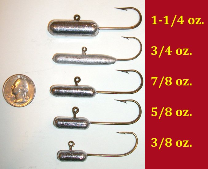 Trout Jigs for plastic tube - Lake Trout Fishing