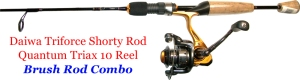 canoe fishing rod combo, brush fishing combo