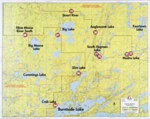 Fisher Map - BWCA
